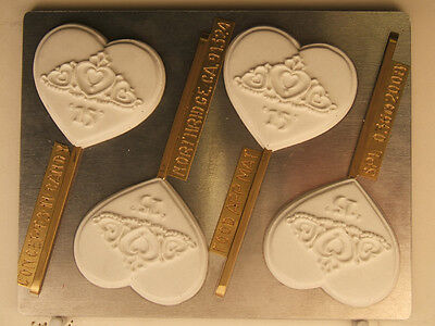 QUINCEANERA HEART CROWN 15 LOLLIPOP DIY CHOCOLATE CANDY MOLD  PARTY FAVORS - Heart Lollipop