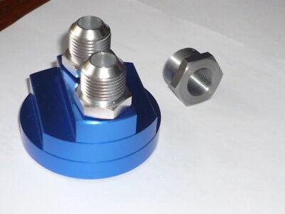 "Remote Oil Filter Adaptor Blue - Engine fitting - JACKMASTER - 3/4""centrenut"