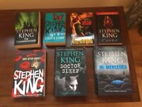 8 Stephen King novels - all in great condition.