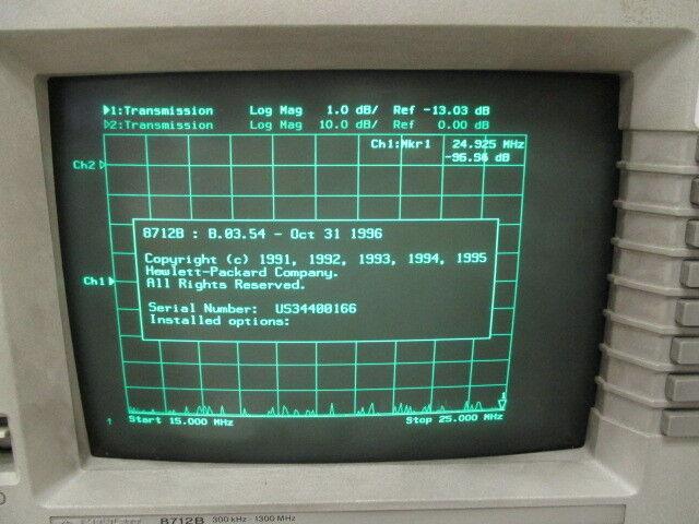 HP 8712B RF Network Analyzer