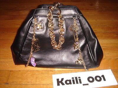 NWT Versace H&M Limited Black Large Chains Charm Bag Hand bag B