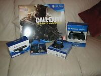 PS4 500GB Call of Duty Console, PSVR Camera, extra controller, head phones and game. New and sealed