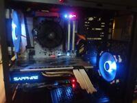 Gaming PC, AMD Ryzen, MSI X370, Corsair dominator DDR4, SAPPHIRE RX 580 Windows 10, may swap p/ex