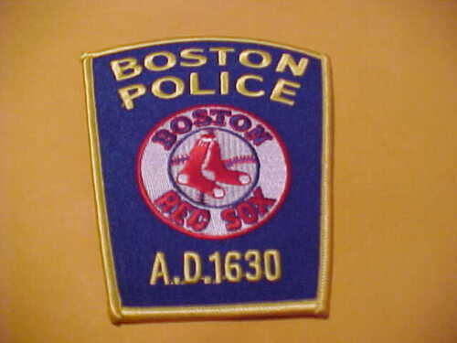 BOSTON MASSACHUSETTS BOSTON RED SOX POLICE PATCH SHOULDER SIZE NEW