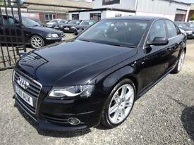 Audi A4 A4 S LINE 211 TFSI + FULL AUDI SERVICE HISTORY (black) 2011