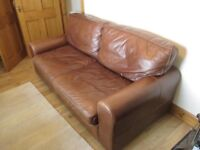 BROWN DISTRESSED LEATHER 3 SEATER SOFA - HOUSE OF FRASER