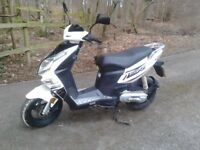 Sachs SX1 two stroke, twist n go ultra low miles, good condition