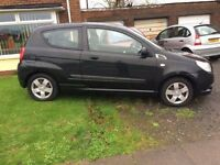 Chevrolet Aveo. Low mileage. Mot till November ideal first car.