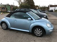 2003 vw beetle convertible baby blue
