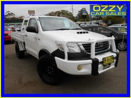 2012 Toyota Hilux KUN26R MY12 SR (4x4) White 5 Speed Manual Cab Chassis