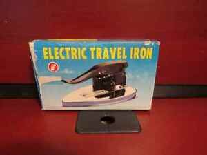 Vintage Elecric Travel Iron - Folding Handle - with Cord