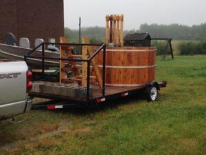 Towable 6 person Cedar Hot Tub