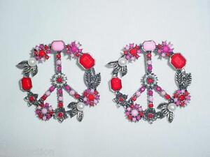 Pretty-Drop-Pierced-Dangle-Peace-On-Earth-Earrings