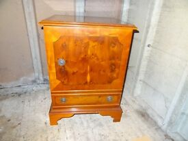 Small vintage cabinet for set top boxes .