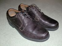 Mens Clarks Brown Leather Shoes (UK size 11)