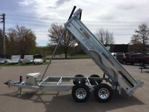 NEW 2018 K-TRAIL 6' x 12' GALVANIZED DUMP TRAILER
