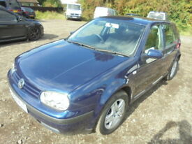 Volkswagen Golf 1.6 MATCH. FULL SERVICE HISTORY including TIMING BELT (blue) 2003