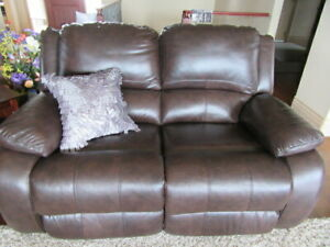3 Piece Rich Brown, Reclining Leather Set