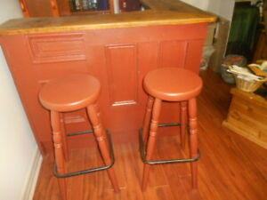 Home Made Rustic style Bar with matching stools