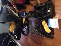 Evenflo 3-in-1 stroller, carrier and car seat