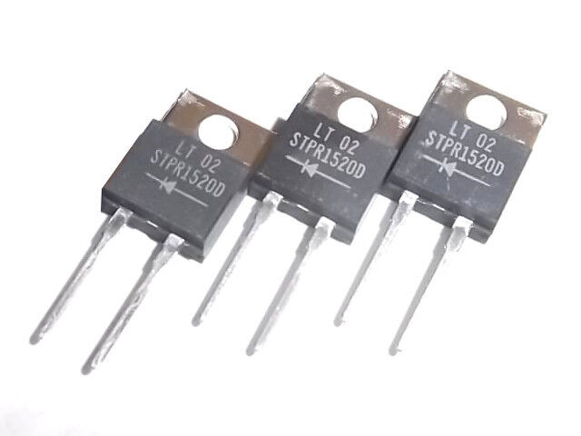 STMicroelectronics STPR1520D, 15A, 200V, ultra fast, rectifier diodes, lot/50