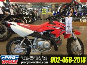 2018 Honda CRF50F SAVE $400 Only $1449.00