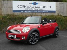 MINI CONVERTIBLE 1.6 ONE 2d 98 BHP 2 OWNER CONVERTIBLE (red) 2010