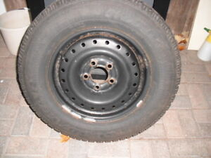 Set of 4  Goodyear Nordic Winter Tires and Rims P215/70r