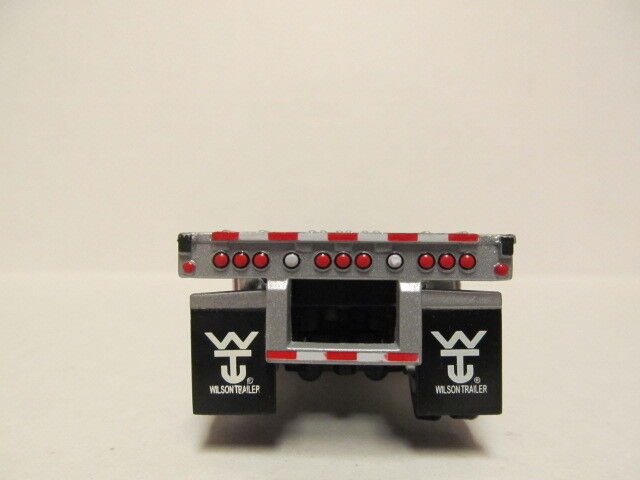 DCP 1/64 SCALE WILSON  ROAD  BRUTE  FLATBED  TRAILER  SILVER DECK, SILVER FRAME 2