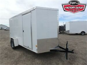 6 X 12 BY WELLS CARGO - LOADED W/OPTIONS FOR ONLY $4,799 TAX IN!