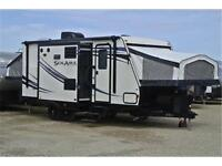 197X Solaire Hybrid Trailer, 8' Wide Loaded with Two Slides