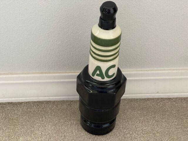 AC Spark Plug Porcelain Decanter