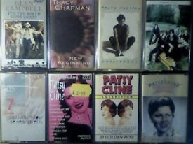 GLEN CAMPBELL, 2x TRACY CHAPMAN, CHARLATANS, N CHERRY, 3x PATSY CLINE PRERECORDED CASSETTE TAPES