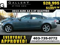 2013 Audi A4 2.0T QUATTRO $199 bi-weekly APPLY NOW DRIVE NOW