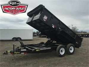 14K – 7 X 14 DUMP TRAILER – ROLL TARP, RAMPS & TAXES INCLUDED!