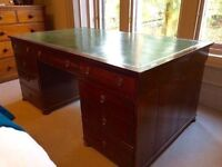 19th Century Antique Mahogany Partners Desk