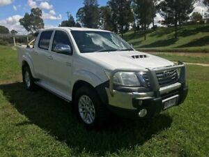 2012 Toyota Hilux KUN26R MY12 SR5 (4x4) Glacier White 4 Speed Automatic Dual Cab Pick-up Oakey Toowoomba Surrounds Preview