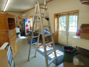 STEP EXTENSION LADDER COMBINATION 8 TO 16 FT