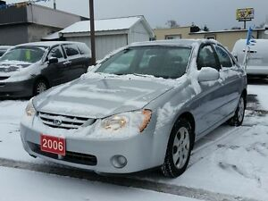 2006 Kia Spectra cert&etested,low kms!
