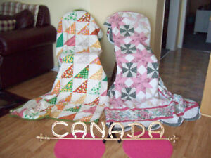 2 Antique Colourful QUILTS **** + CANADA ART * SEE EACH PRICE