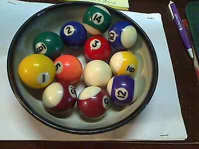 "Vintage 1 1/2"" Mini ~ Miniature Pool Billiard Replacement Ball  You Choose 3.8cm"