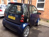 Smart car pulse, 2 seats, low mileage, £1,200 ONO