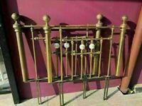 Brass single headboard