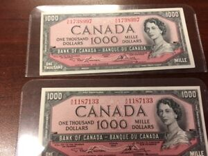 Canadian currency american currency