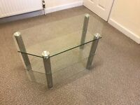 TV Stand, 3 Glass Shelves, excellent condition