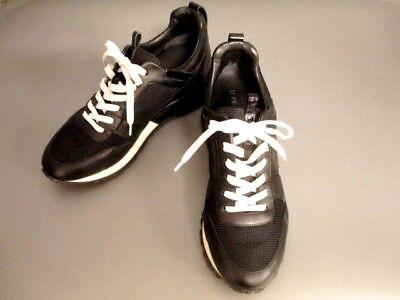 Auth LOUIS VUITTON Noir Technical Mesh Run Away Sneaker 1A1JZY GO0116 #38