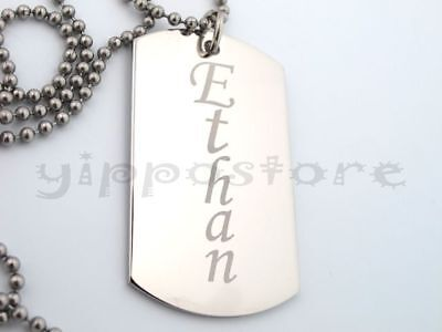 Custom Engraved Stainless Steel Personalized Dog Tag Necklace Free Engraving - Custom Dog Tag Necklace