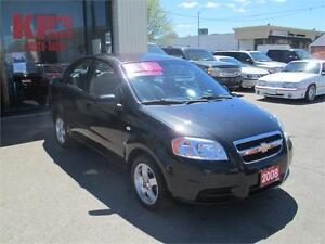 2008 CHEVROLET AVEO LS ! GREAT ON GAS ! LOW KM'S ! WE FINANCE !