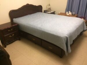 Bedroom set -  8 piece Excellent condition , cherry wood finish.