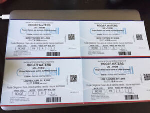 SELLING TWO ROGER WATERS TICKETS